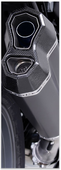Remus 8 voor BMW R 1200 GS LC detail